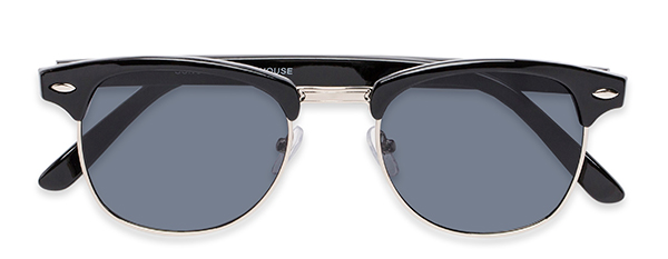Whistler in Black/Silver with Grey Lenses
