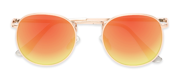 Tahiti in Gold Frame with Orange Mirrored Lenses