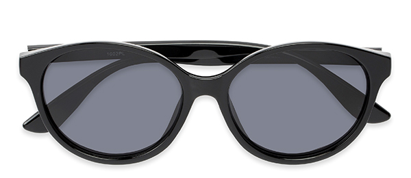 Dolores in Black with Polarized Grey Lenses
