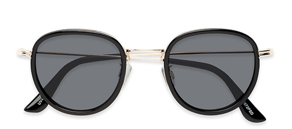 Madeira in Black/Gold with Smoke Lenses
