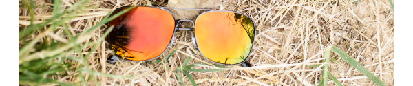 Aspen in Grey with Polarized Red/Orange Mirrored Lenses