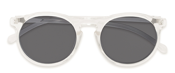 Potrero in Glossy Clear with Grey Lenses
